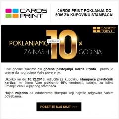 Cards print Vam poklanja za kupovinu štampača